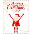 merry christmas santa cartoon character sticker vector image vector image