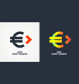 modern money transfer logo and emblem vector image vector image