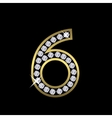 Number six sign vector image vector image