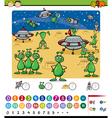 numbers game cartoon vector image vector image