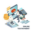 online payment invoice tax bills accounting vector image vector image