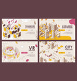 outline banners or landing page templates vector image vector image