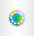 people around world symbol vector image