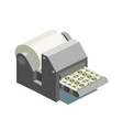 printing machine prints money isometric vector image vector image
