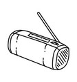 radio icon doodle hand drawn or outline icon style vector image