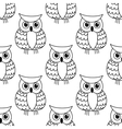 seamless background pattern a cute owl vector image vector image