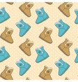 Seamless pattern with cute cartoon boots vector image