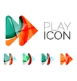 Set of abstract next play arrow icon business