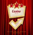 shining casino banner vector image