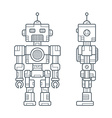 Simple Line Retro Robot vector image