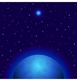 space planet and star vector image vector image
