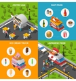 Street Food Concept Icons Set vector image vector image