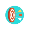 Target marketing icon vector image
