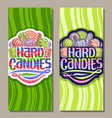 vertical banners for hard candies vector image vector image