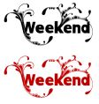 weekend vector image vector image
