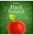 Welcome back to school template EPS 10 vector image