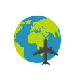 world tourism icon flat style vector image