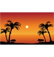 Panorama beach at the sunset vector image