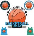 Set of Basketball championship logo vector image