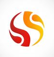 circle fire swirl abstract logo vector image