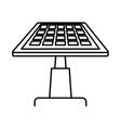 solar panel isolated icon design vector image