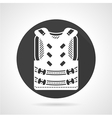 Protective vest black round icon vector image