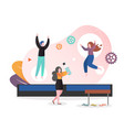 adult trampoline concept for web banner vector image vector image