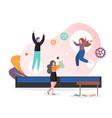 adult trampoline concept for web banner vector image