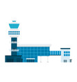 airport building flat material design isolated vector image vector image