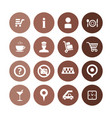 airport icons universal set for web and ui vector image