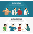 Allergy Banner Set vector image vector image