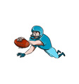 American Football Player Touchdown Drawing vector image vector image