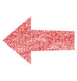 arrow left fabric textured icon vector image vector image