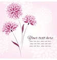 background with flowers card template vector image vector image