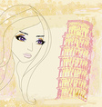 beauty travel girl in Italy vector image vector image