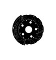 black brake disc vector image vector image