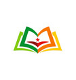 book education knowledge logo vector image vector image