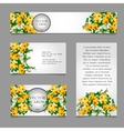 Cards with white and yellow flower composition vector image vector image