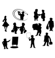 cartoon people silhouettes vector image