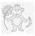 coloring page with cartoon doodle animal vector image vector image