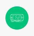 console device game gaming psp white line icon in vector image vector image