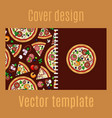 cover design with cartoon pizza vector image vector image