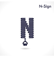 Creative N letter icon abstract logo design vector image vector image