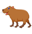 cute capybara cartoon vector image