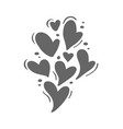 cute gray different size hearts valentines vector image vector image