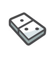 domino board game icon cartoon vector image