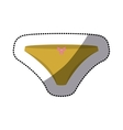 dotted sticker of yellow bikini panties with bow vector image vector image