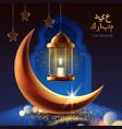 eid mubarak greeting or ramadan kareem card vector image vector image
