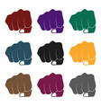 fist bump icon in black style isolated on white vector image vector image