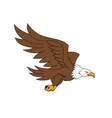 Flying eagle 2 vector image vector image